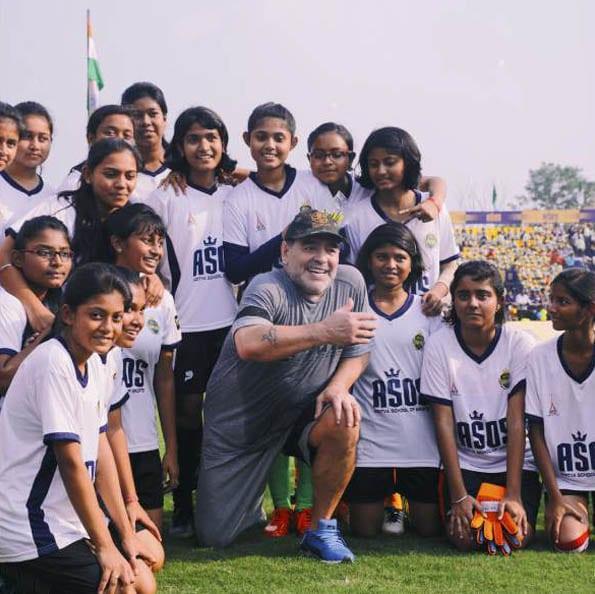 Workshop with Diego Maradona