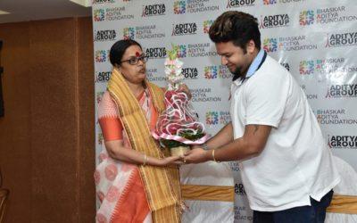 Felicitation of Mrs. Sabita Saha